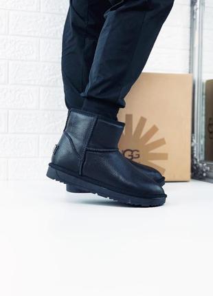 Угги мужские ugg сапоги ботинки кожаные мини кожа угі уггі чоловічі