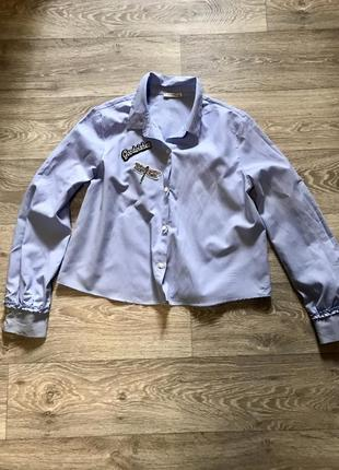 Рубашка -блузка bershka хлопковая