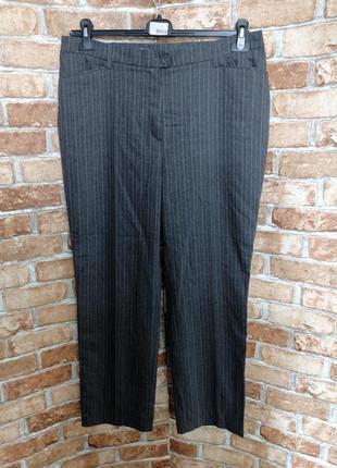 Шерстяные брюки в полоску