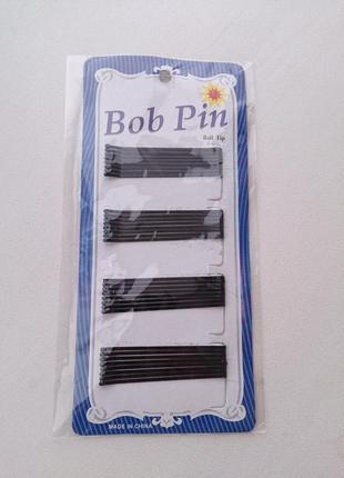 Невидимки шпильки заколки для волос черные bob pin новые