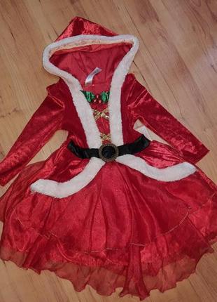 Красивый костюм новогодний платье санта клаус дед мороз