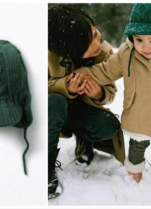 Zara baby шапка з трикотаж.підкладкою 06-12-24міс. євро зима / демисезон
