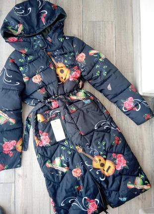 Зимний плащ пальто куртка s