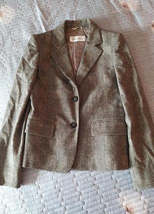 Пиджак max mara шерсть кашемир цена окончательная
