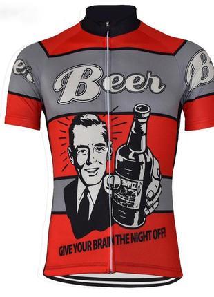 Велофутболка велоформа beer прикольная custom (xl)