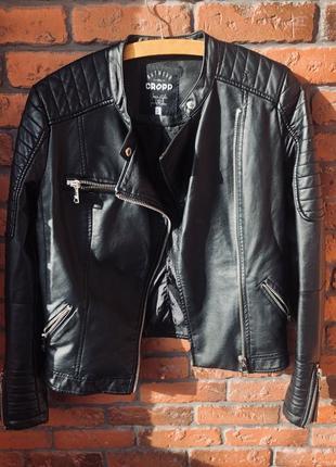 Куртка косуха эко кожа чёрная верхняя одежда