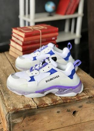 Balenciaga triple s clear sole 🍏 стильные женские кроссовки баленсиага