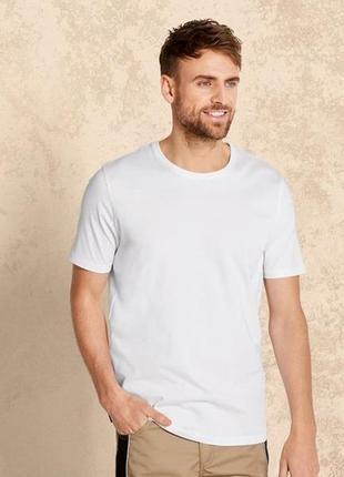 Белая базовая футболка, хлопок, м, l,  livergy, германия