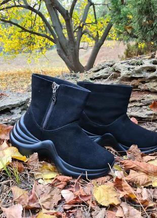 Ботинки skechers solei st. disco fun оригинал натуральная замша, мех