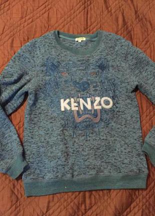 Голубой/синий свитшот kenzo
