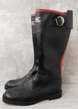 Стильные демисезонные кожаные мото ботинки, сапоги daytona. размер 43-44.