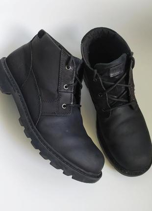 Мужские кожаные ботинки caterpillar,44 размер, вьетнам.
