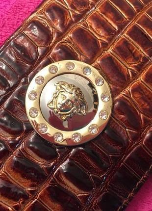 Обложка на паспорт versace кожа крокодила/новая/италия