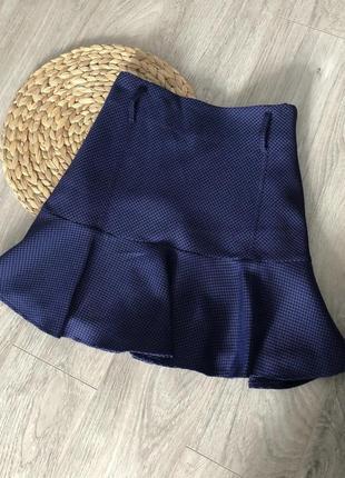 Базовая юбочка в мелкую гусиную лапку