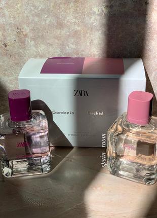 Духи zara orchid/gardenia в наборе/парфуми/туалетна вода/туалетная вода