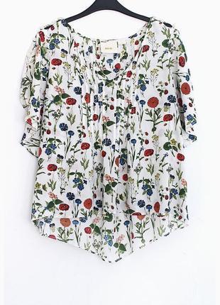 Легкая блузочка из натуральной ткани  • р-р  10 (м)