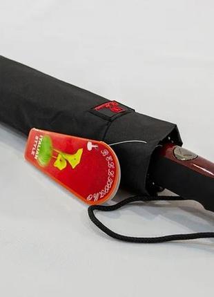 "Мужской зонт автомат на 10 спиц и с каркасом ""анти-ветер"""