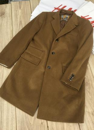 Стильное актуальное шерстяное пальто кашемир meyer h&m zara asos camel тренд