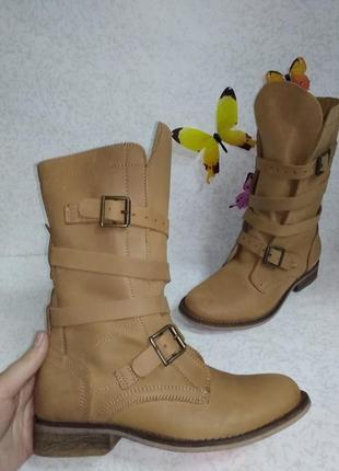 Кожаные ботинки полу сапоги spm (спм)  36р.