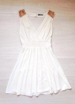 Платье цвета айвори с бисером (можно на роспись свадьбу)
