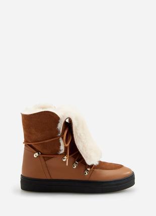 Женские кожаные ботинки reserved