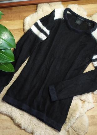 Пуловер свитер гольф кофта джемпер черный  свитшот