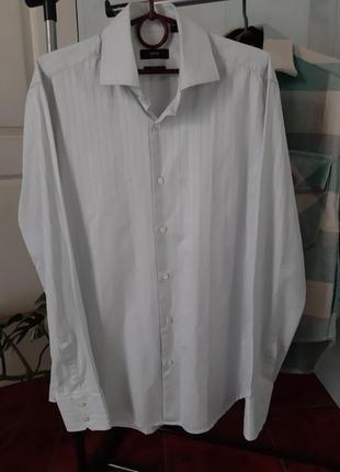Хлопковая рубашка оверсайз с мужского плеча