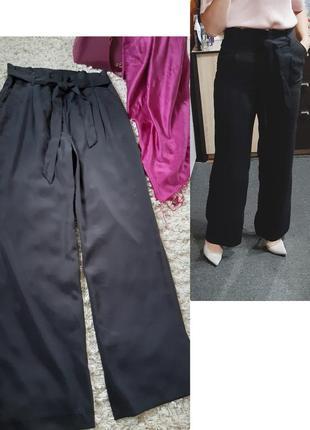 Стильные широкие брюки/палацо с поясом,  высокая посадка, h&m, p.10