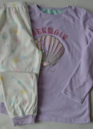 Пижама тонкий флис 11-12 лет 152 см primark англия