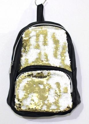 Стильный рюкзак black-gold