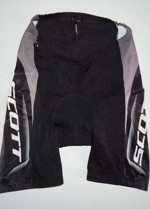 Велошорты scott с памперсом черные (l)