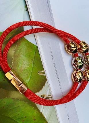 Браслет червона нитка оберіг (код 0085) 17 см