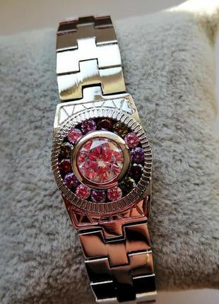 Браслет магічний годинник , родій, 20см.