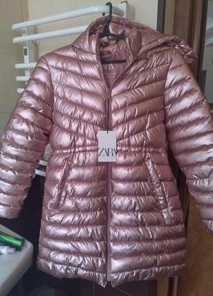Новое демисезонная куртка пальто zara р. 164