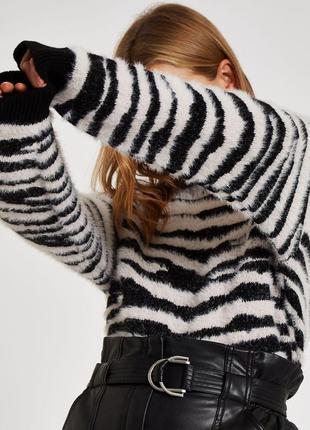 Оверсайз свитер с элементами травки river island