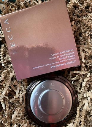 Бронзер becca gradient sunlit bronzer sunset waves