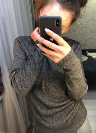 Пуловер с люрексом новая