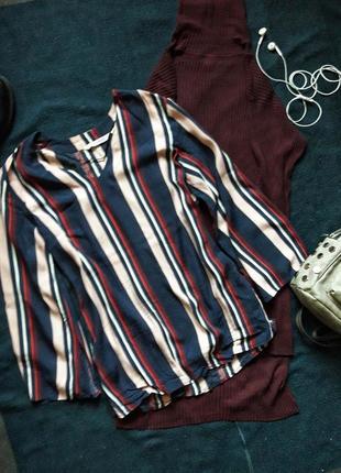 Яркая блуза в полоску kappahl