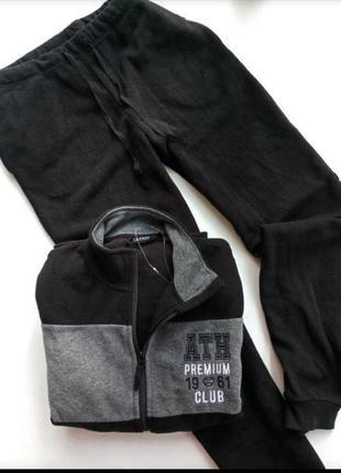 Уютний теплий флисовий костюм комплект от немецкого бренда livergy л