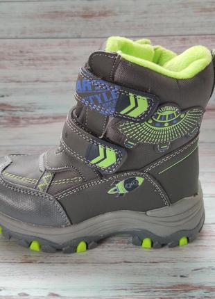 Детские зимние термо ботинки сноубутсы для мальчика 22-27р.н2118-3