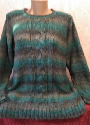 Мягкий свитер с градиентом большого размера