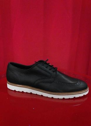 100% кожаные черные мужские туфли, окфорды 44-45 pull&bear оригинал