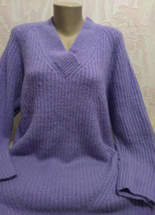 Удлиненный теплый свитер/туника большого размера