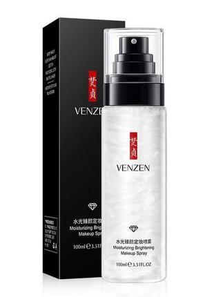 Спрей фиксатор для макияжа venzen с жемчужной пудрой 100 ml