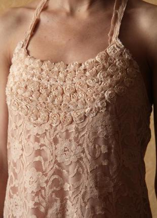 Платье нюдовое с открытой спиной