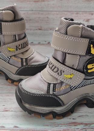 Детские зимние термо ботинки сноубутсы для мальчика 23-28р. т5115-3