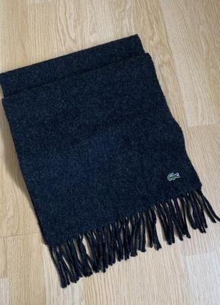 Lacoste wool scarf меланж шерсть шарф оригинал