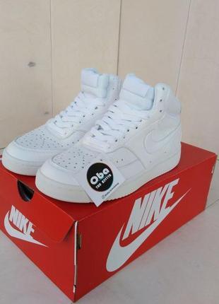 Nike court vision mid біла шкіра