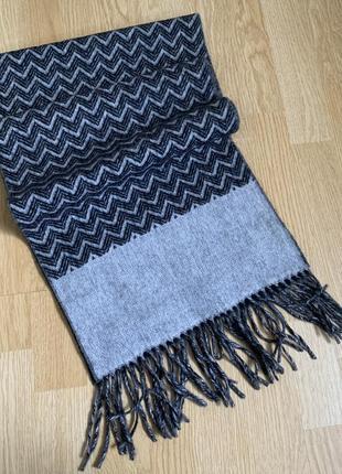 Wool reversible scarf шерстяной двухсторонний шарф