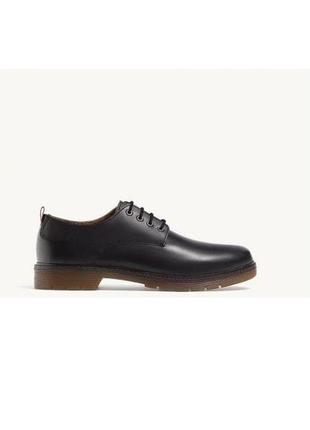 Кожаные черные мужские туфли 41-42,43-44,44-45 stradivarius оригинал